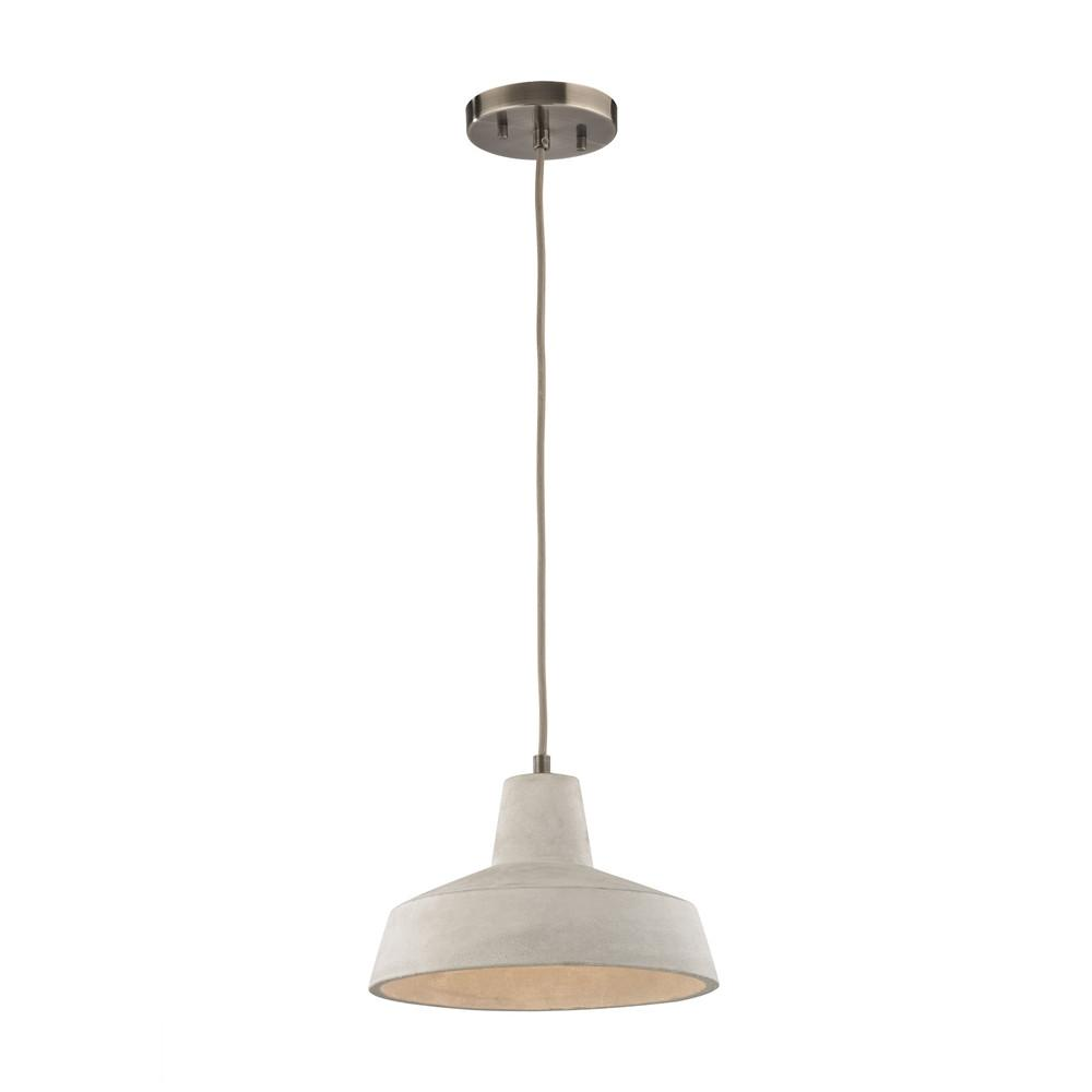 Urban Form 1 Light LED Pendant In Black Nickel. Picture 1