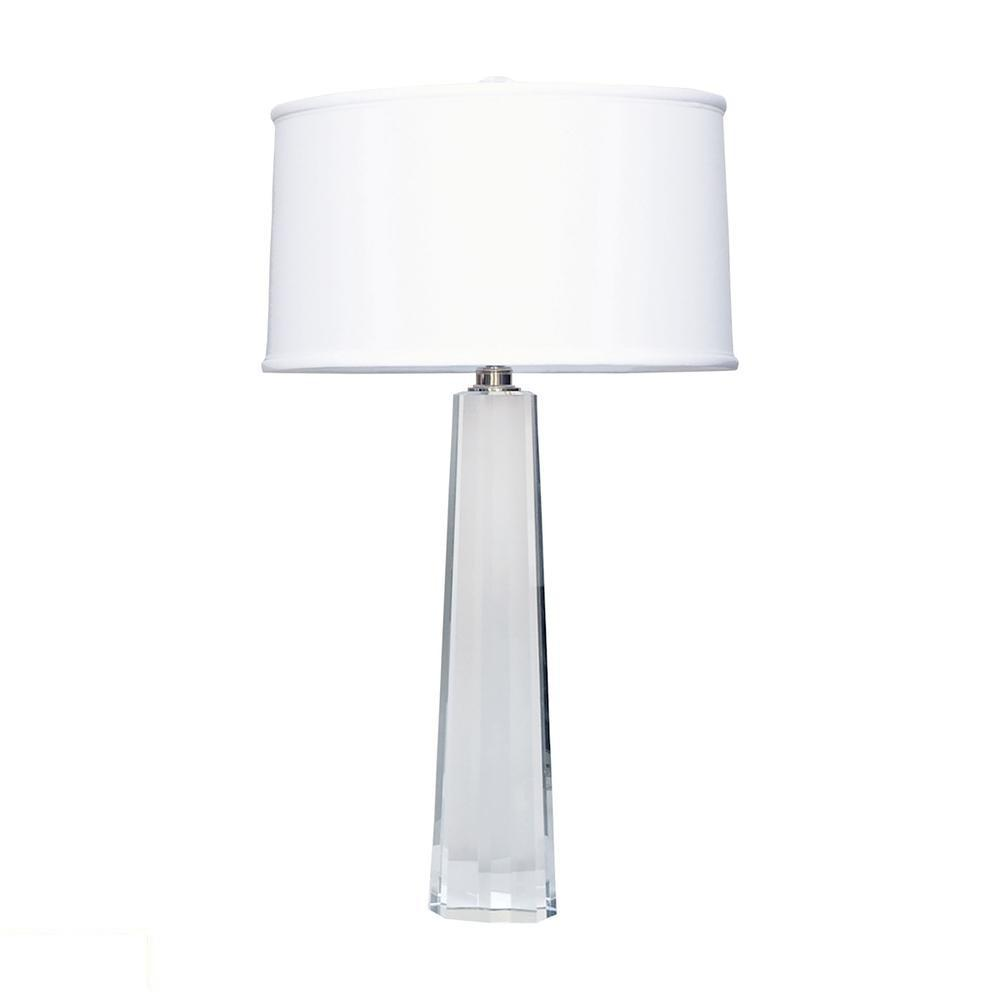 Crystal Faceted Column LED Table Lamp. Picture 1