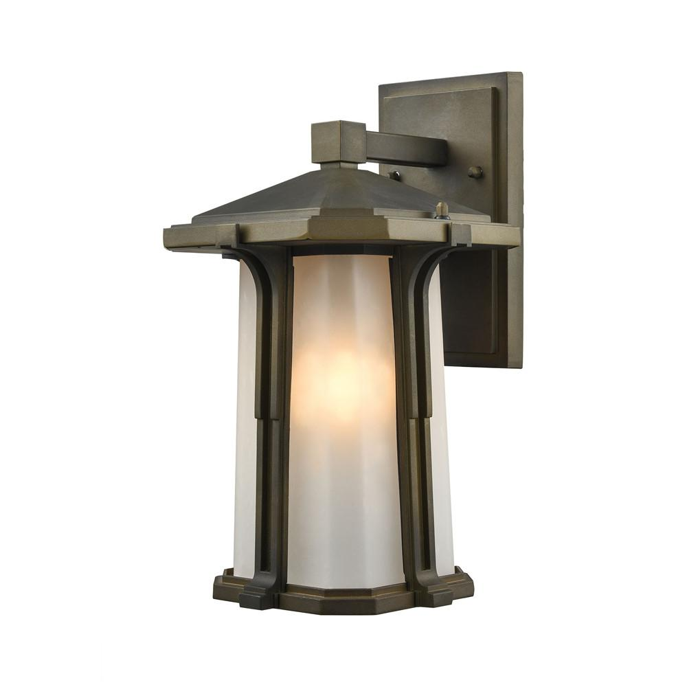 Brighton 1 Light LED Outdoor Wall Sconce In Smoked Bronze. Picture 1