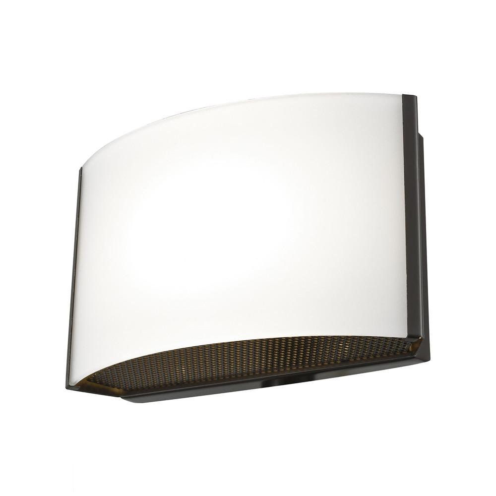 Pandora LED 1 Light LED Vanity In Oiled Bronze And Opal Glass. Picture 1