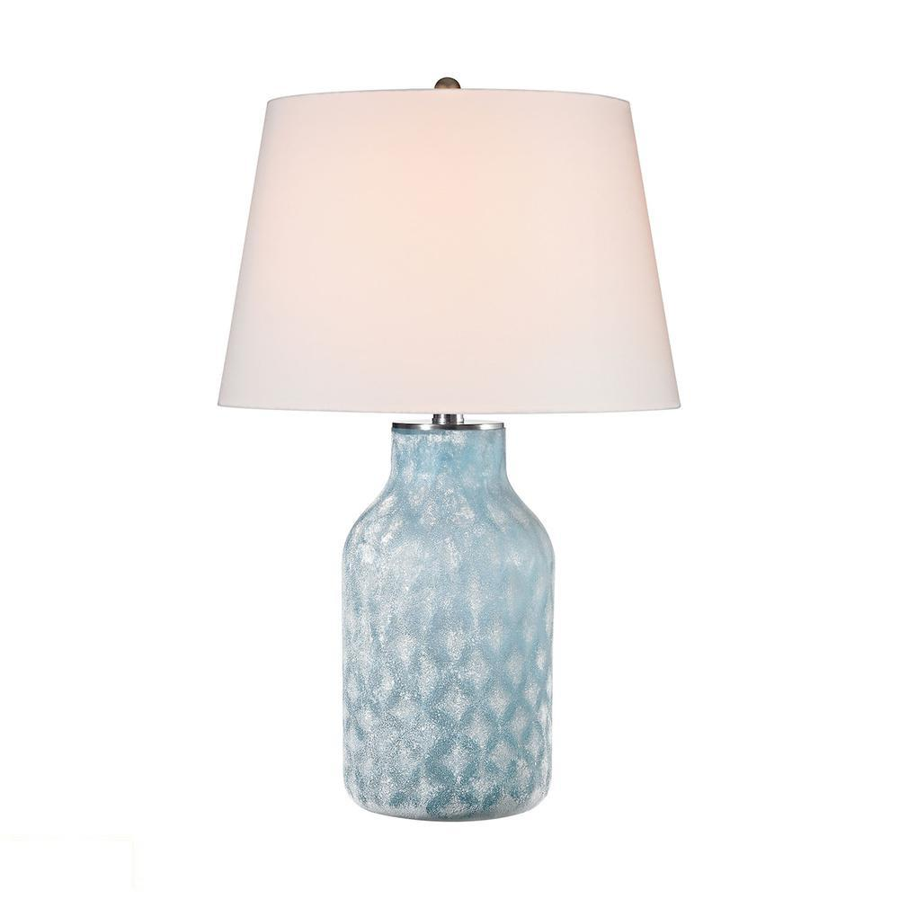 Sophie 1 Light LED Table Lamp In Santa Monica Blue. Picture 1