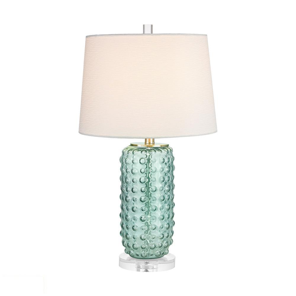 Caicos 1 Light LED Table Lamp In Green. Picture 1