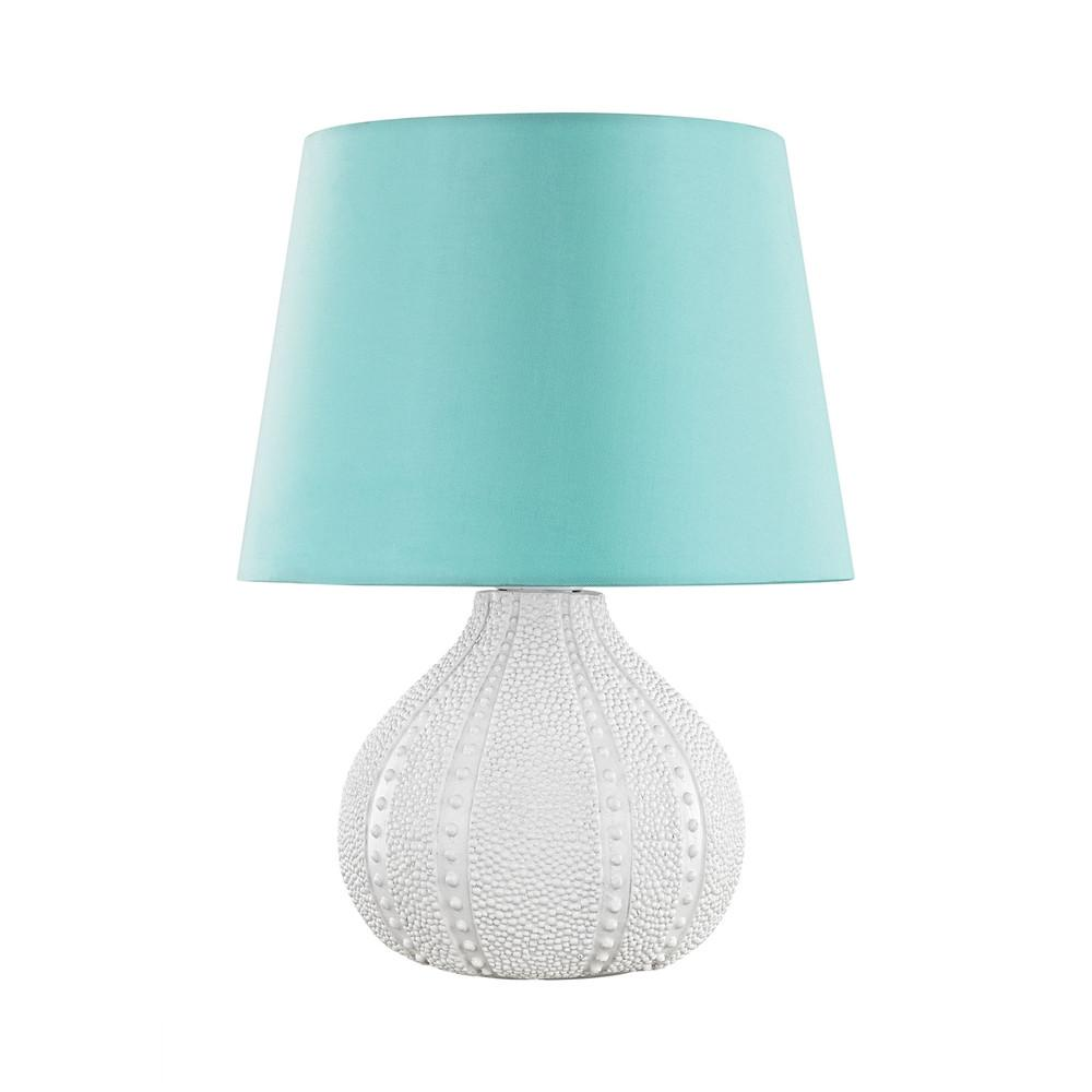Aruba Outdoor LED Table Lamp With Sea Green Shade. Picture 1