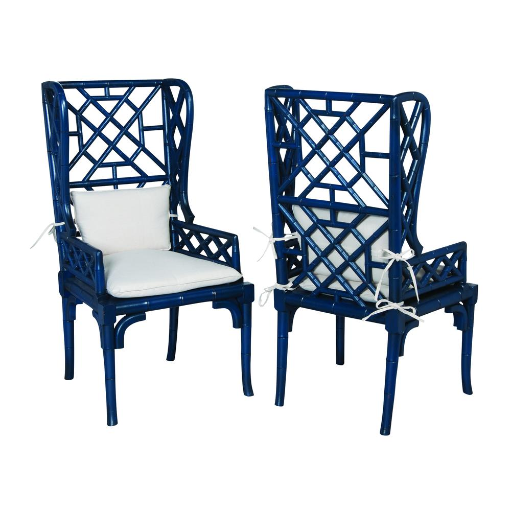 Bamboo Wing Back Chair. Picture 1
