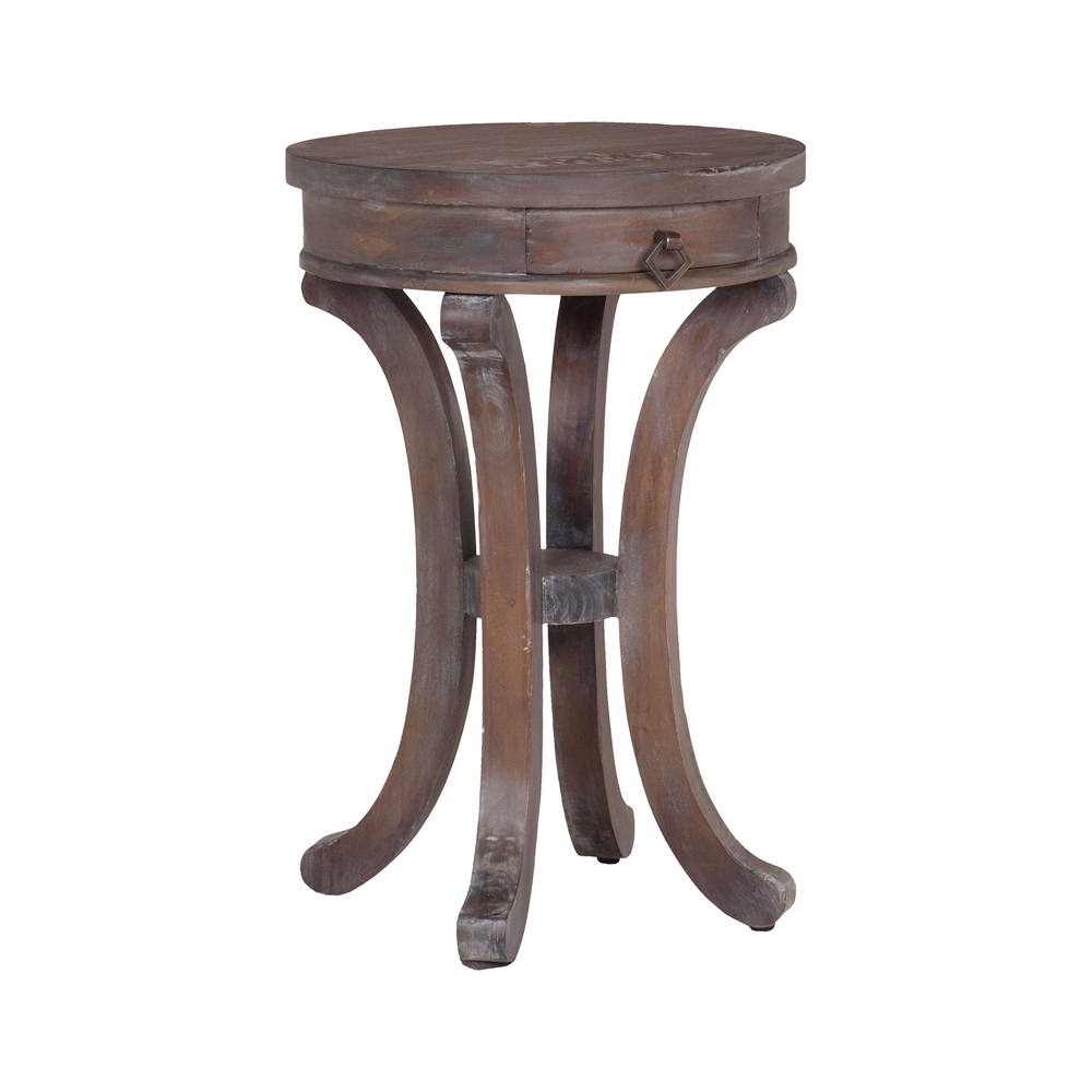 Mahogany Swoop Base Side Table. Picture 1