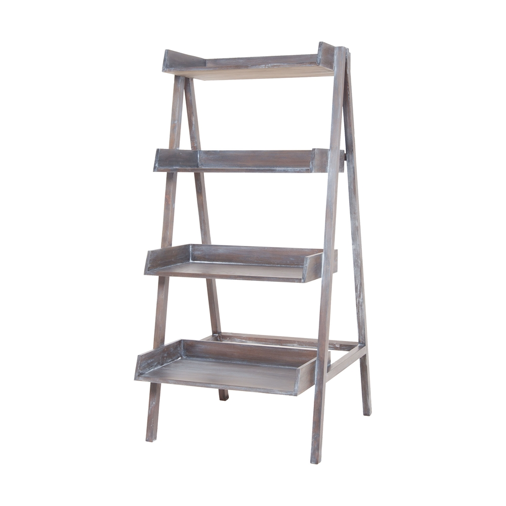 Grey Wash Stack Ladder. Picture 1
