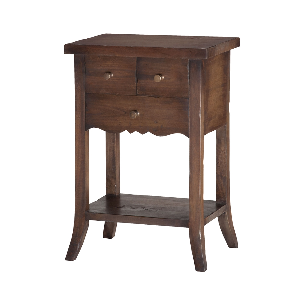3-Drawer East Hampton Side Table. Picture 1