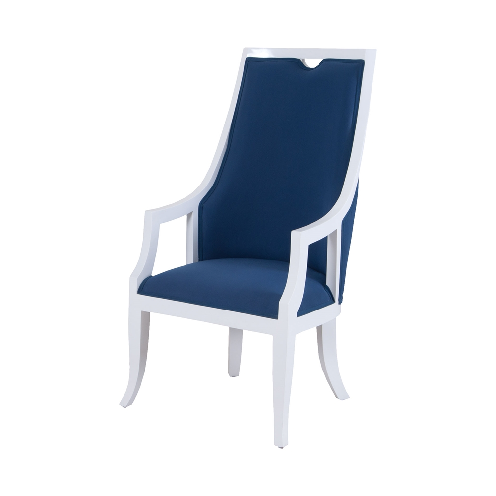 Rosa Vana Chair In White And Navy. Picture 1