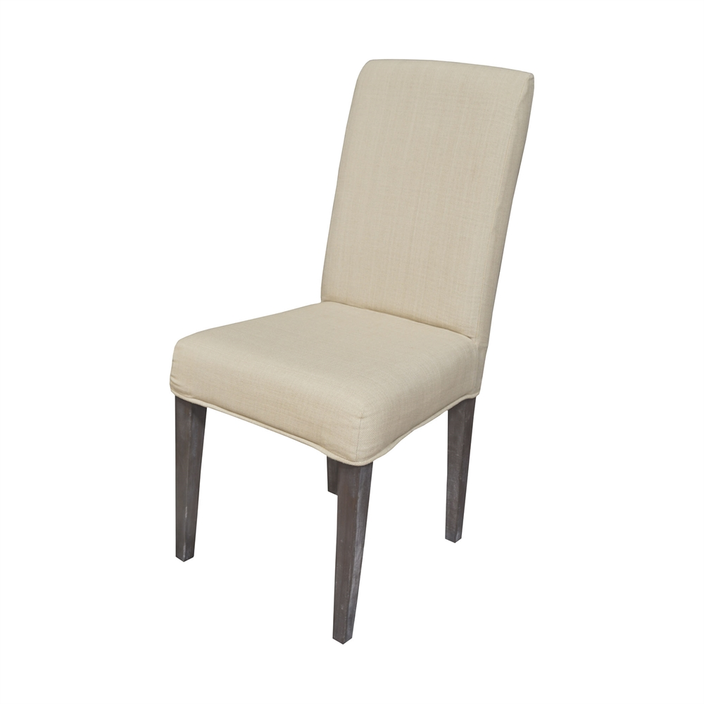 Couture Covers Parsons Chair Cover - Light Cream. Picture 1