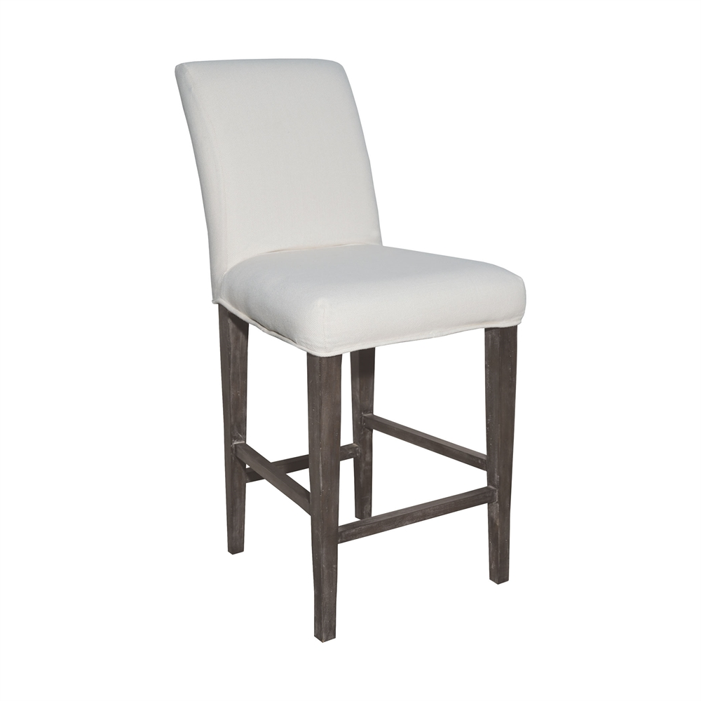 Couture Covers Parsons Barstool Cover - Pure White. Picture 1
