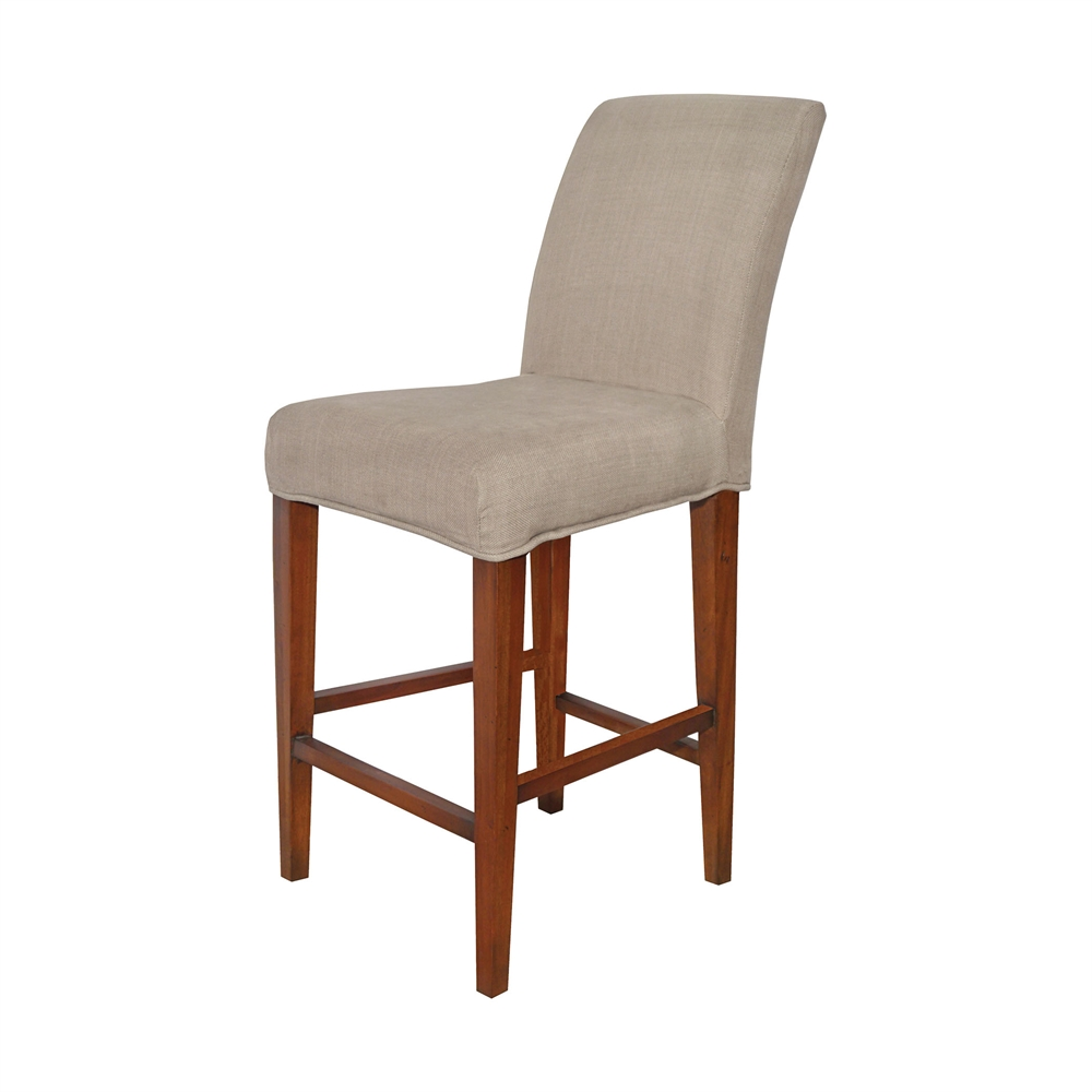 Couture Covers Parsons Barstool Cover - Light Brown. Picture 1