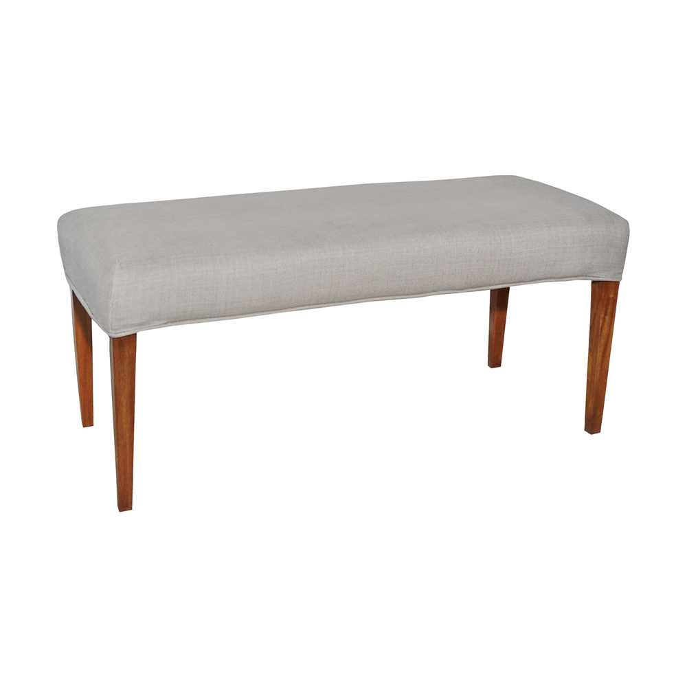 Couture Covers Double Bench Cover - Light Grey. Picture 1