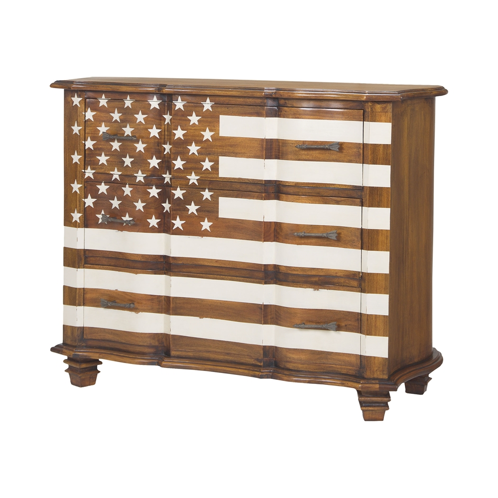 Westward Chest In Honey Stain And White. Picture 1