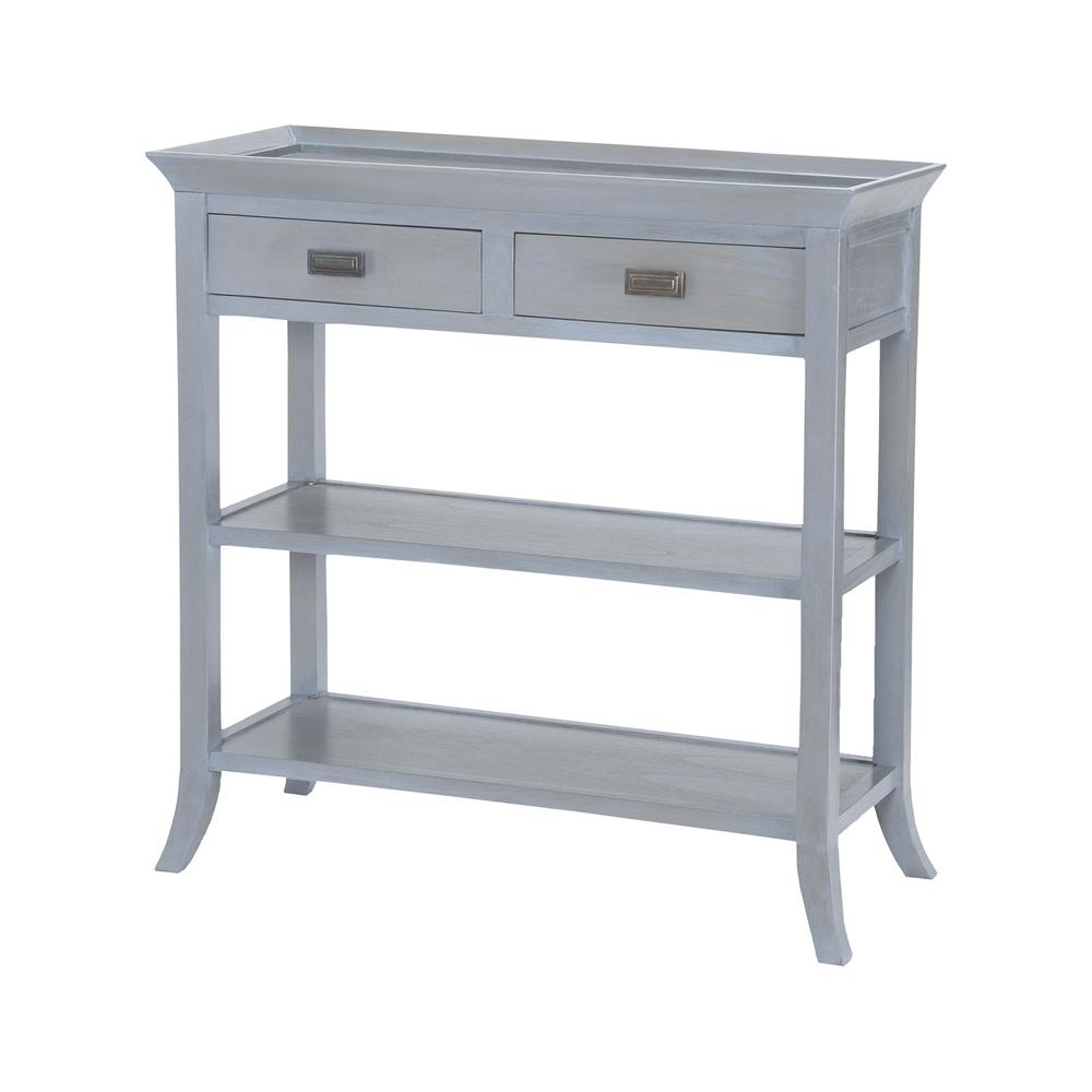Tamara Console Table In Gravesend Grey. Picture 1