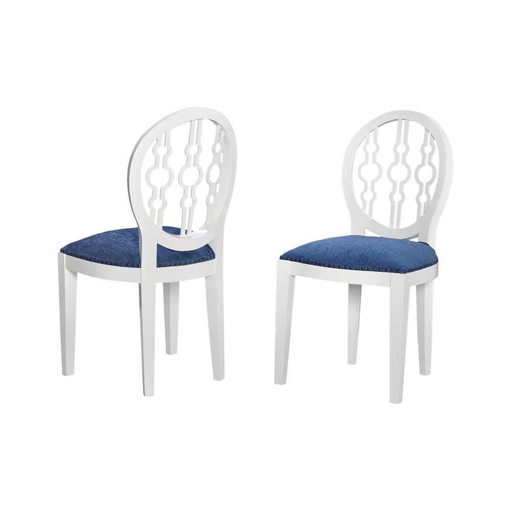 Dimple Chair In Cappuccino Foam And Navy Fabric