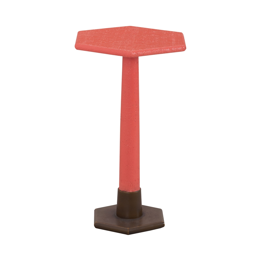 Launch Pad Coral Accent Table. Picture 1
