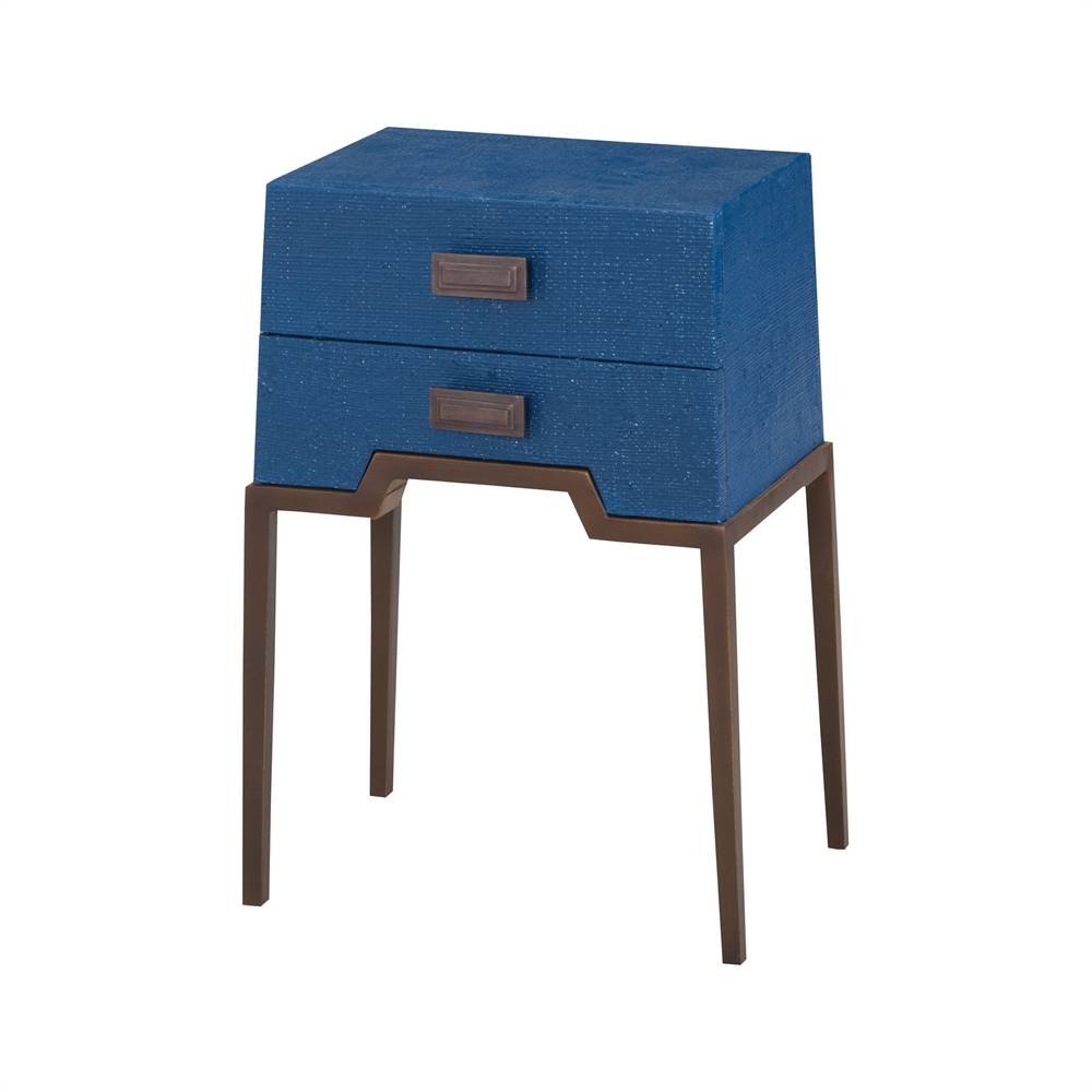 Ziggy Blue Accent Table. Picture 1