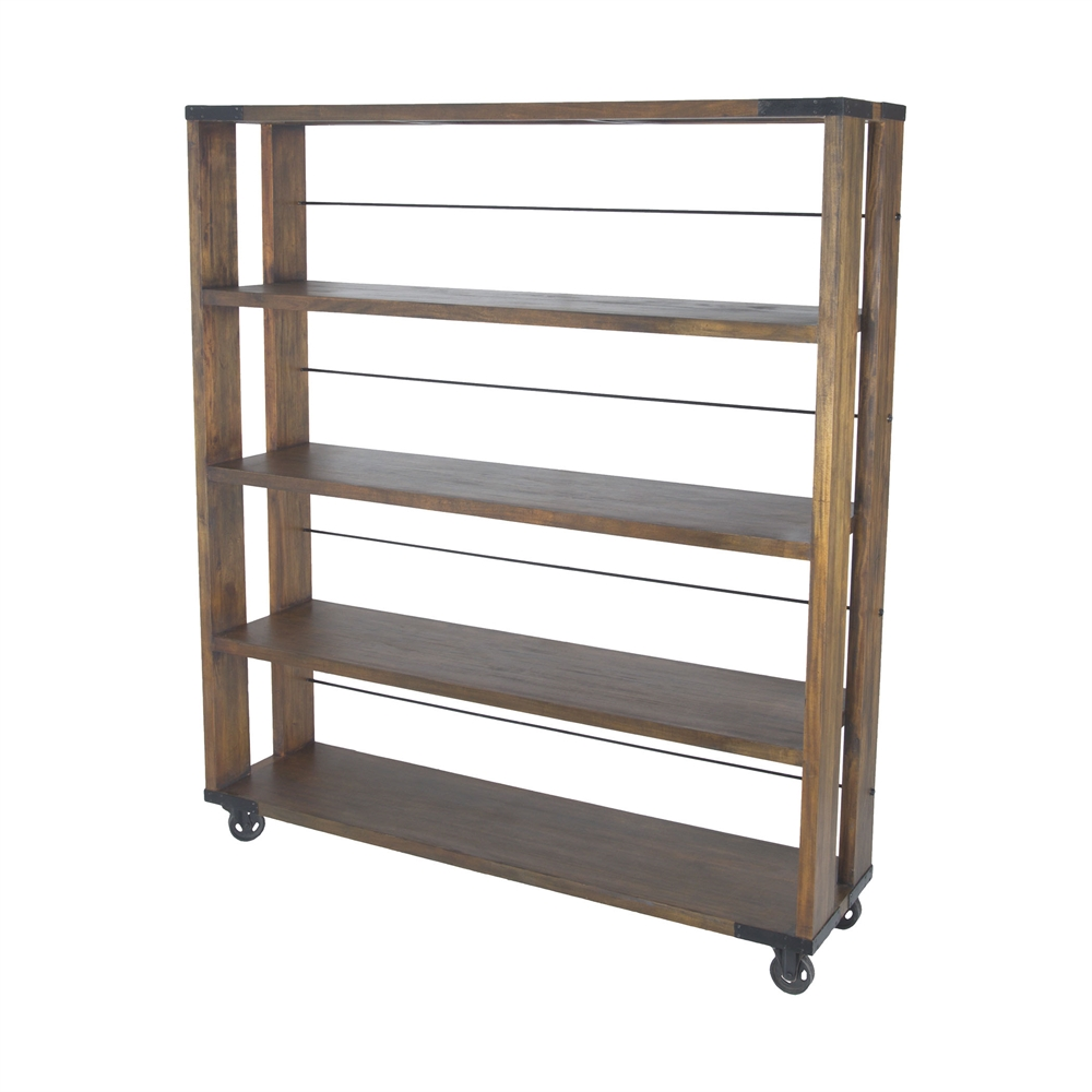 Penn Shelving Unit In Farmhouse Stain - Large. Picture 1