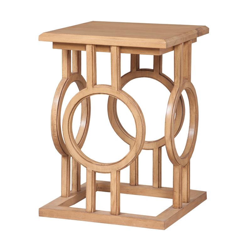 Circle Cut Out Accent Table. Picture 1