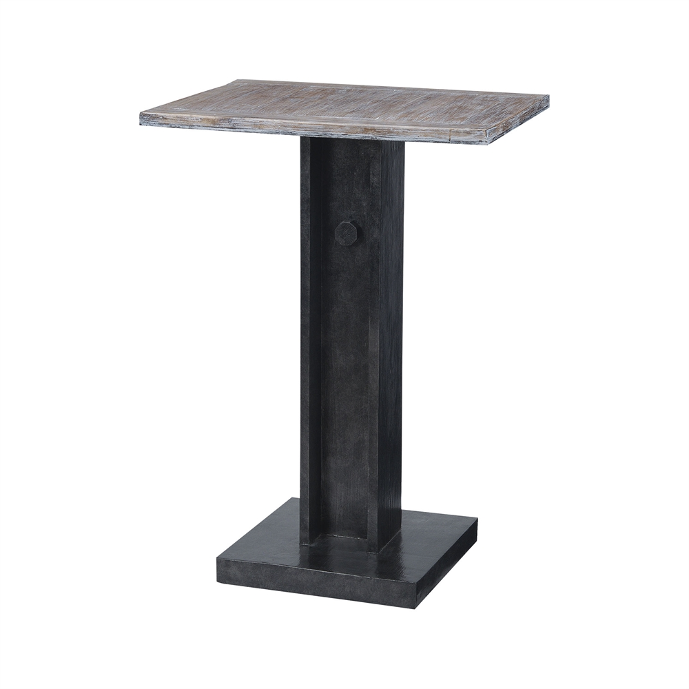 Bistro Accent Table With Natural Wood Top. Picture 1