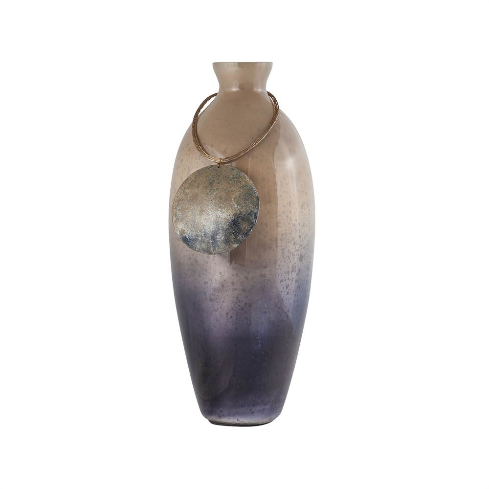 Vase Cuzco 16-Inch Glass Vase In Fire Clay. Picture 1