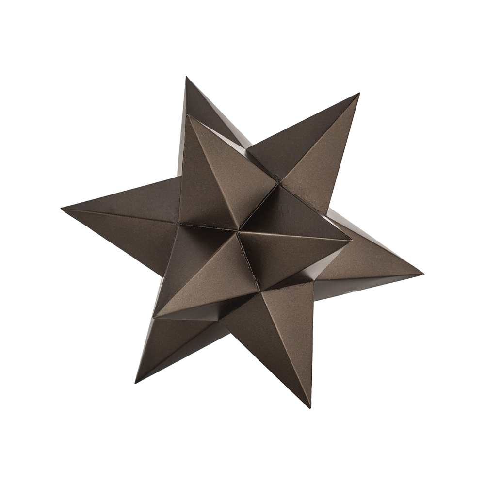 Aged Bronze Table Top Stars. Picture 1