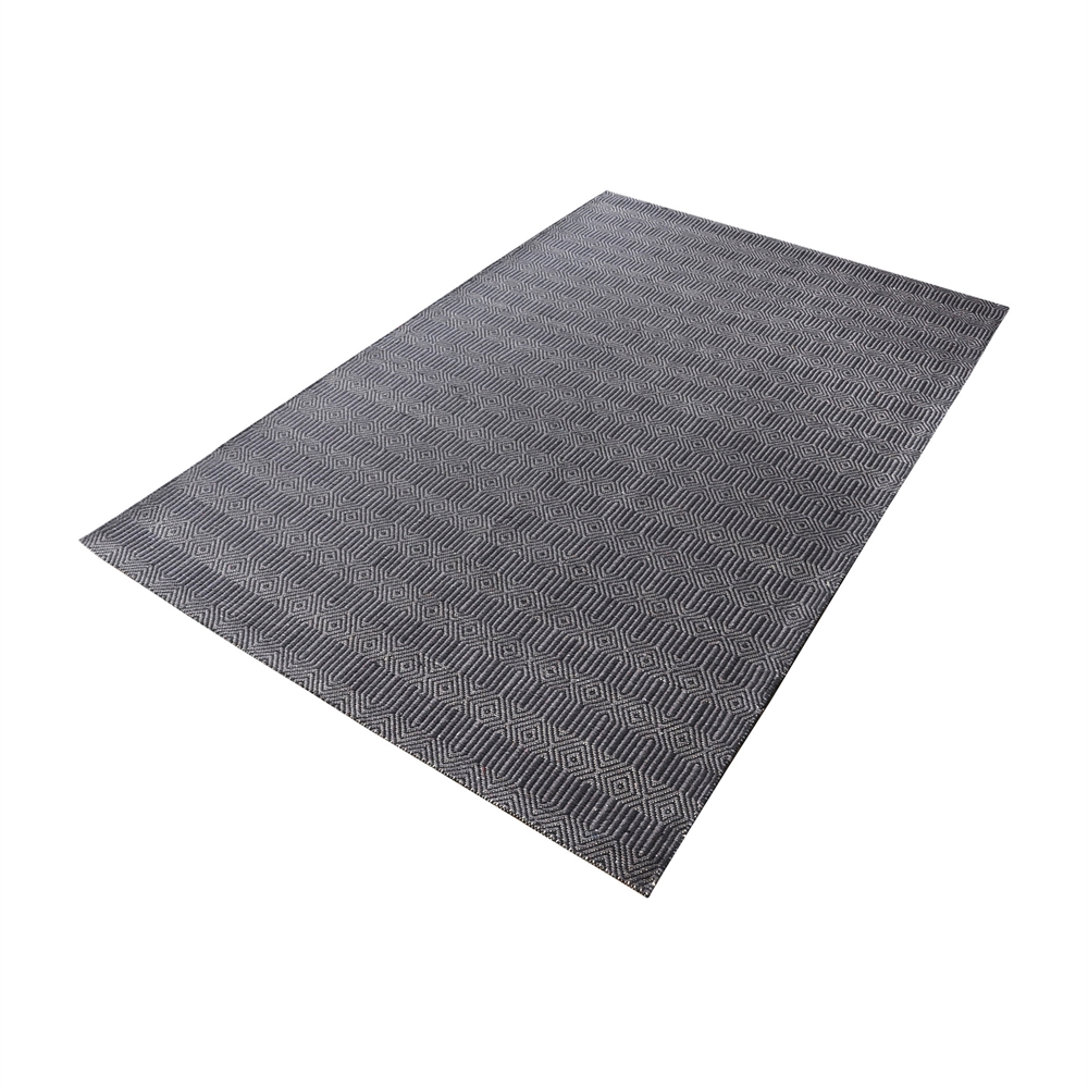 Ronal Handwoven Cotton Flatweave In Charcoal - 5ft x 8ft. Picture 1