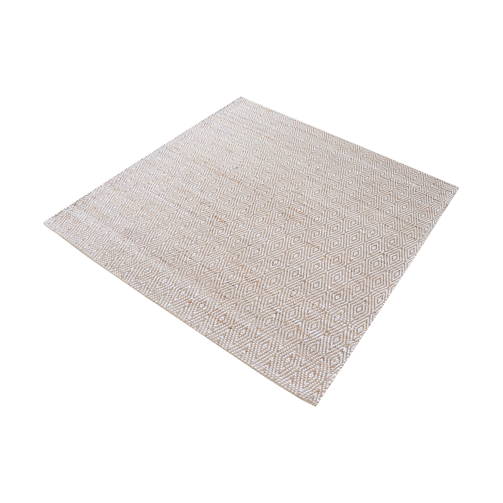 Elsie Handwoven Hemp And Cotton Rug - 6-Inch Square. Picture 1