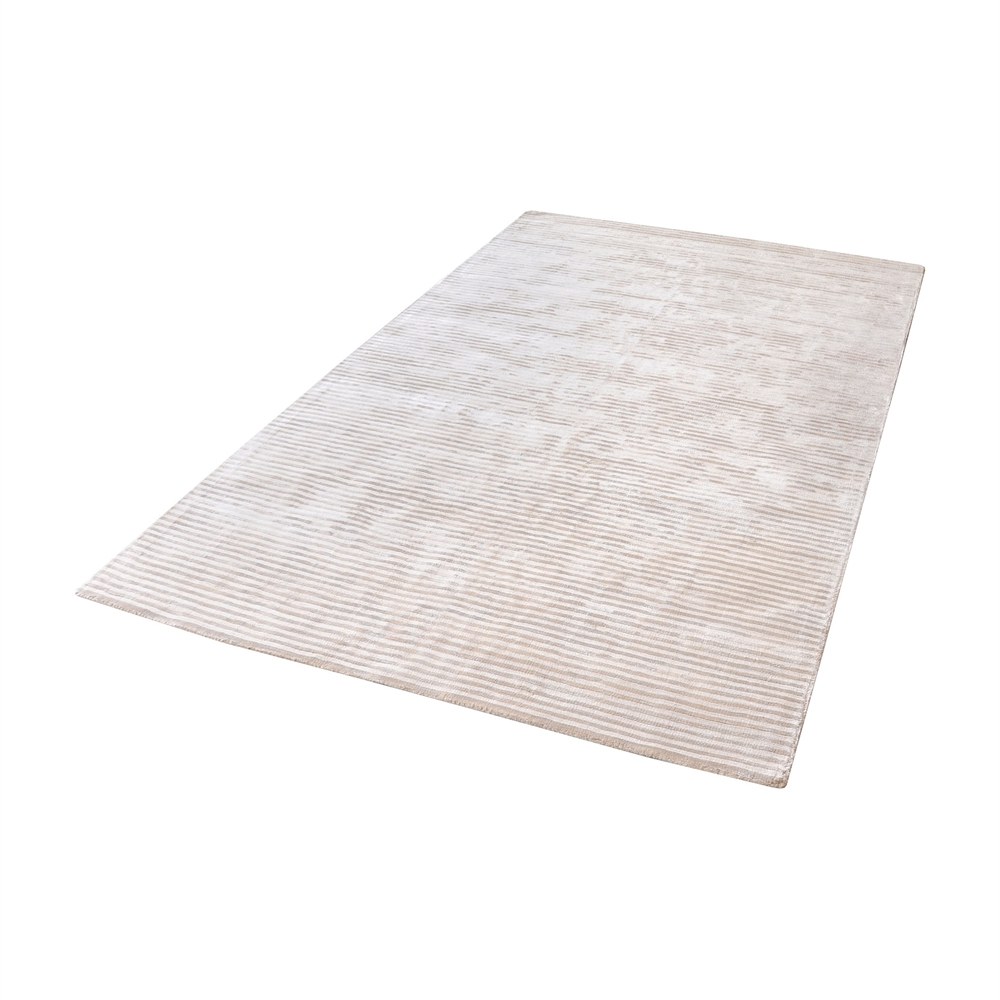 Logan Handwoven Viscose Rug In Ivory - 5ft x 8ft. Picture 1