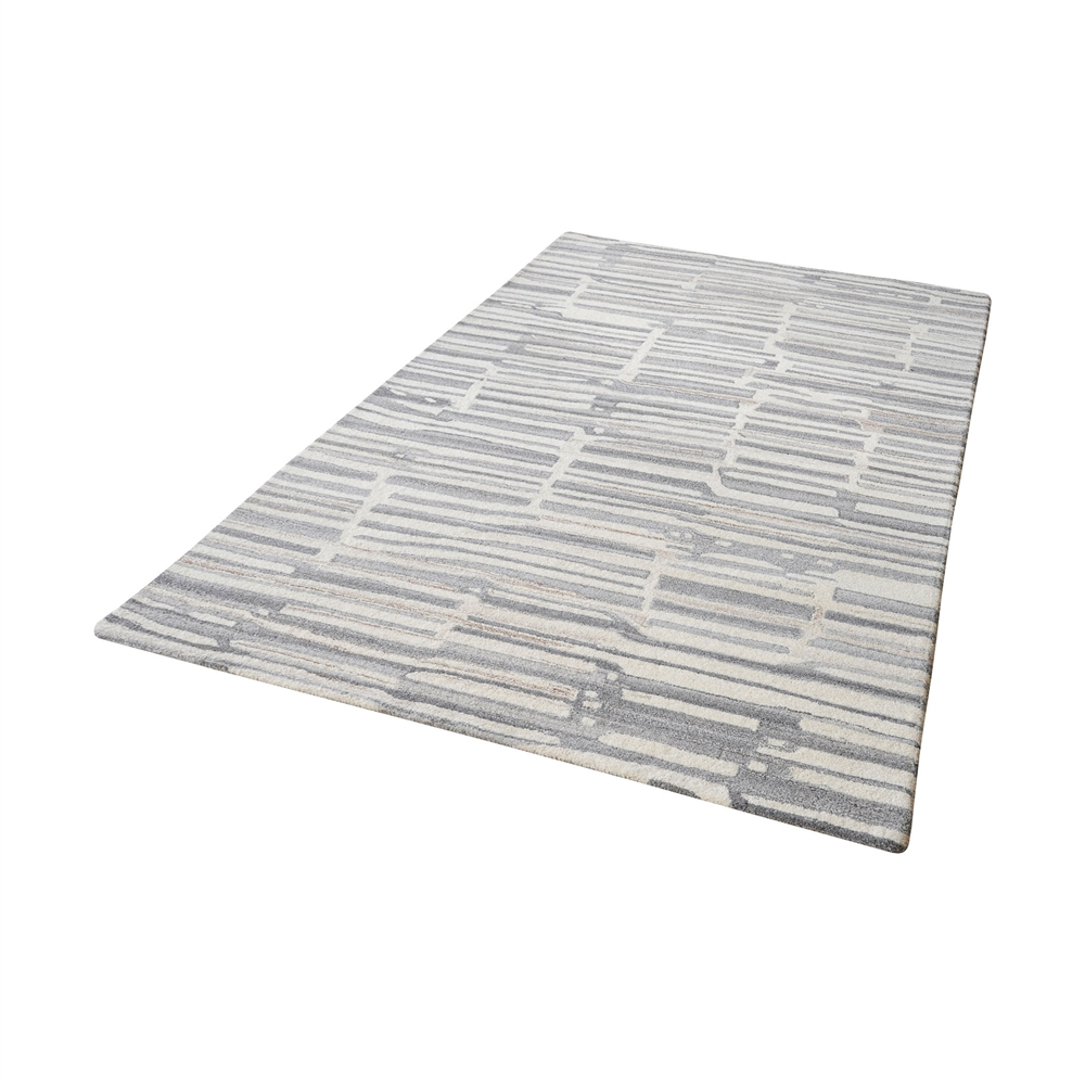Slate Handtufted Wool Rug In Grey And White - 8ft x 10ft. Picture 1