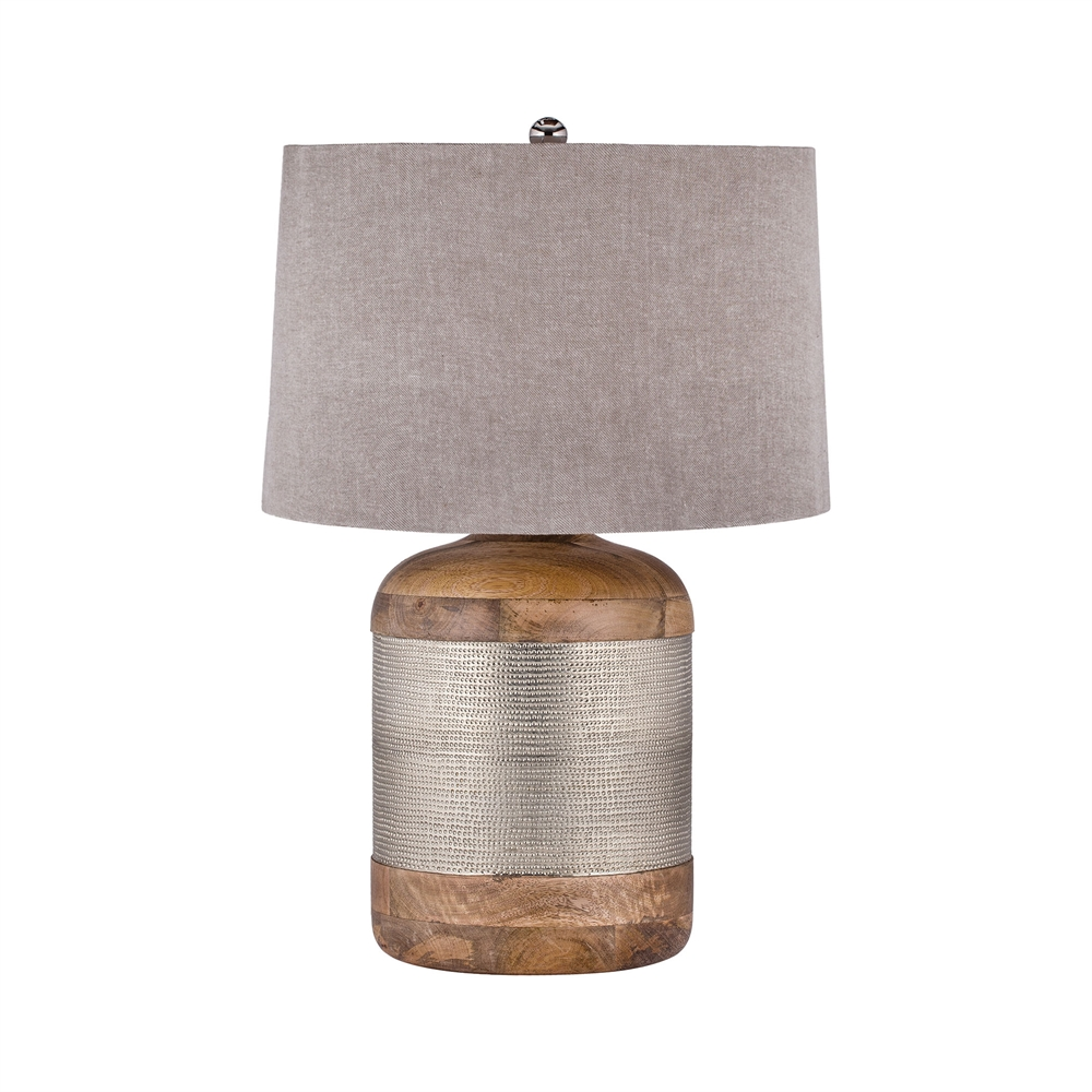 German Silver Drum Table Lamp. Picture 1