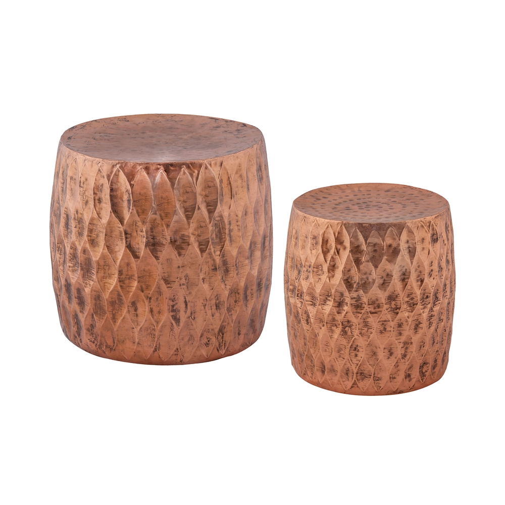 Djembe 2-Piece Iron Stool Set. Picture 1