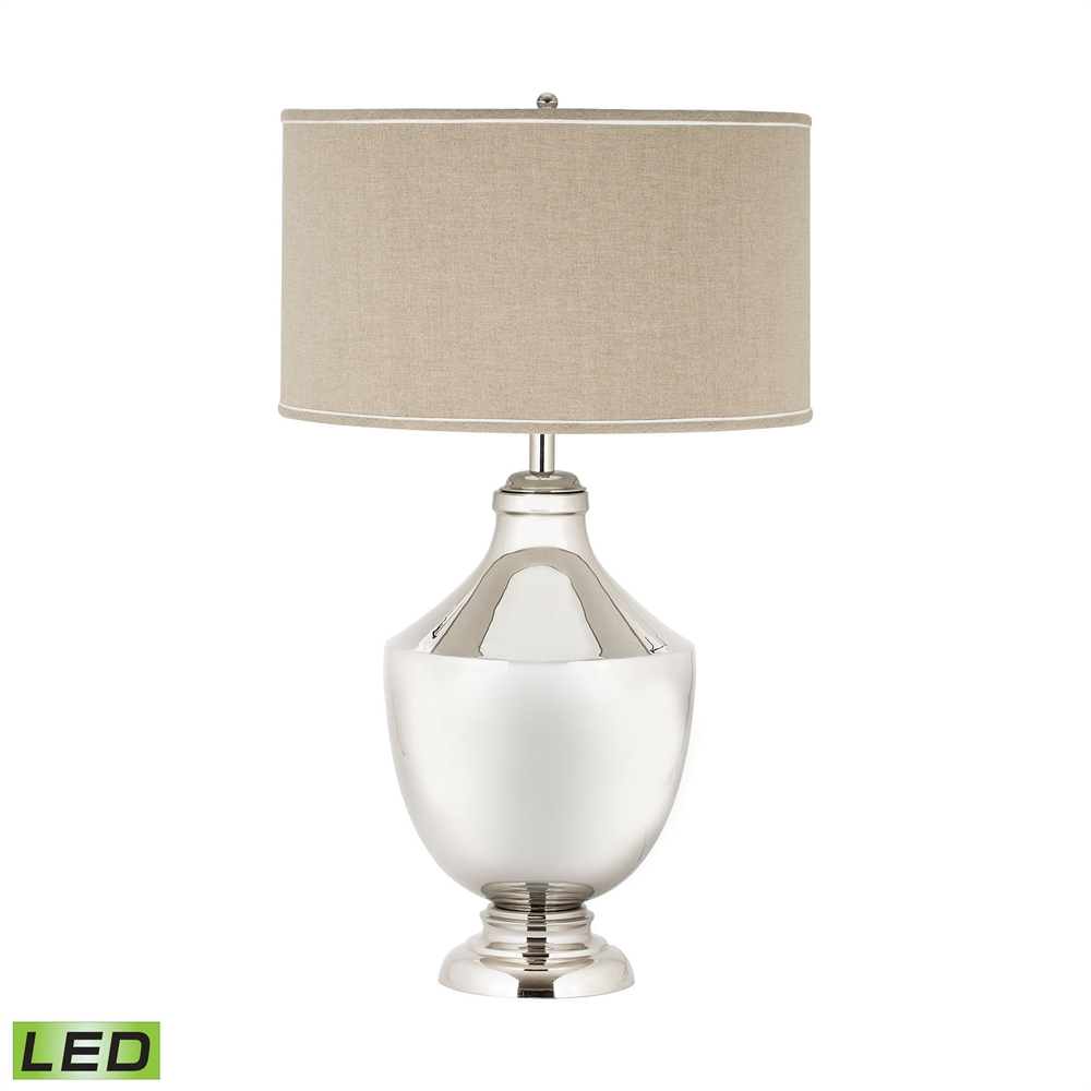 Massive Brass Urn LED Table Lamp. Picture 1