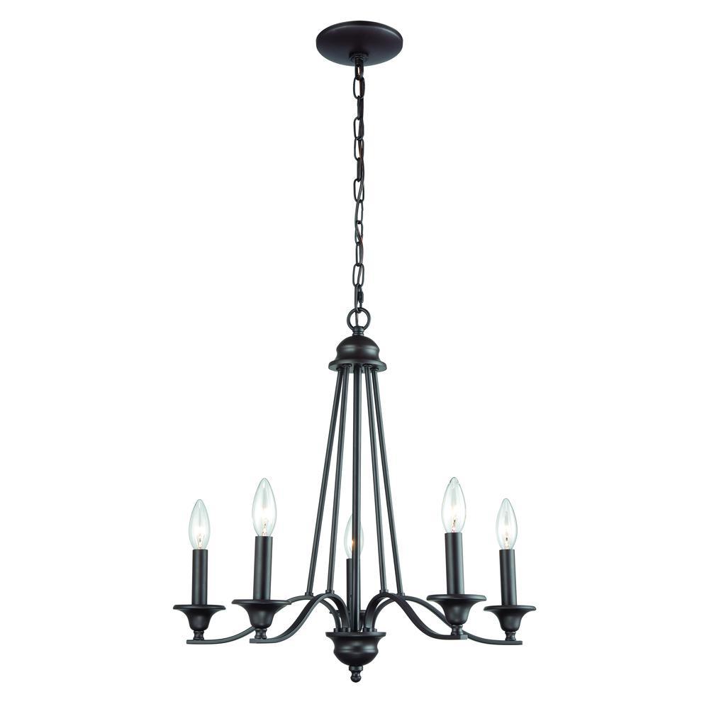 farmington 5 light chandelier in oil rubbed bronze