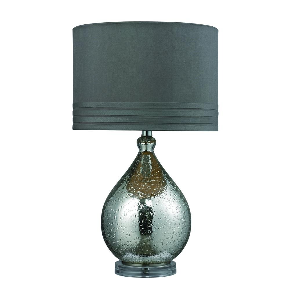 Bubble Glass Table Lamp in Mercury Plate Finish. Picture 1