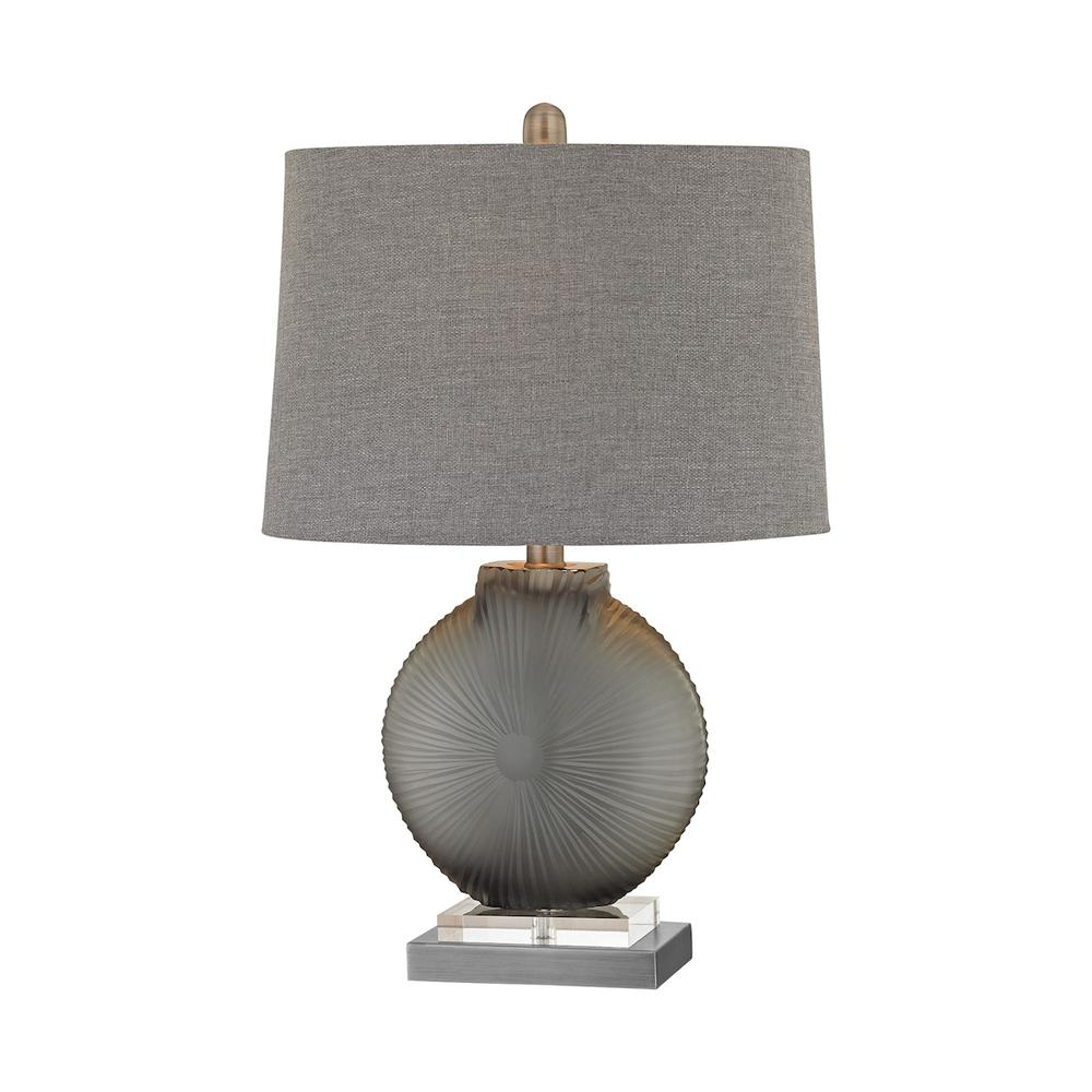 Simone 1 Light Table Lamp In Grey And Pewter. Picture 1