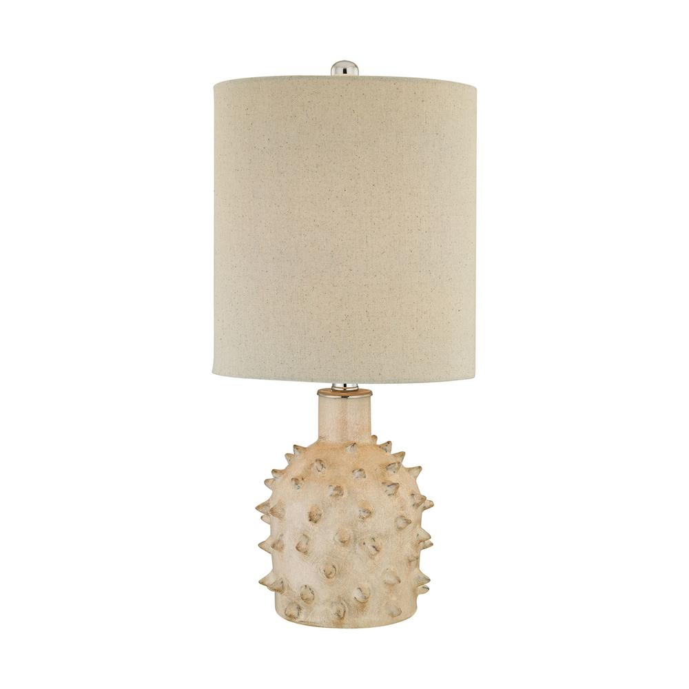 Kankada 1 Light Table Lamp In Cumberland Cream Crackle. Picture 1