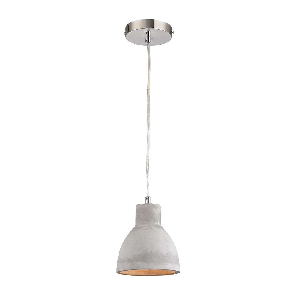 Brut 1 Light Pendant In Polished Concrete. Picture 1