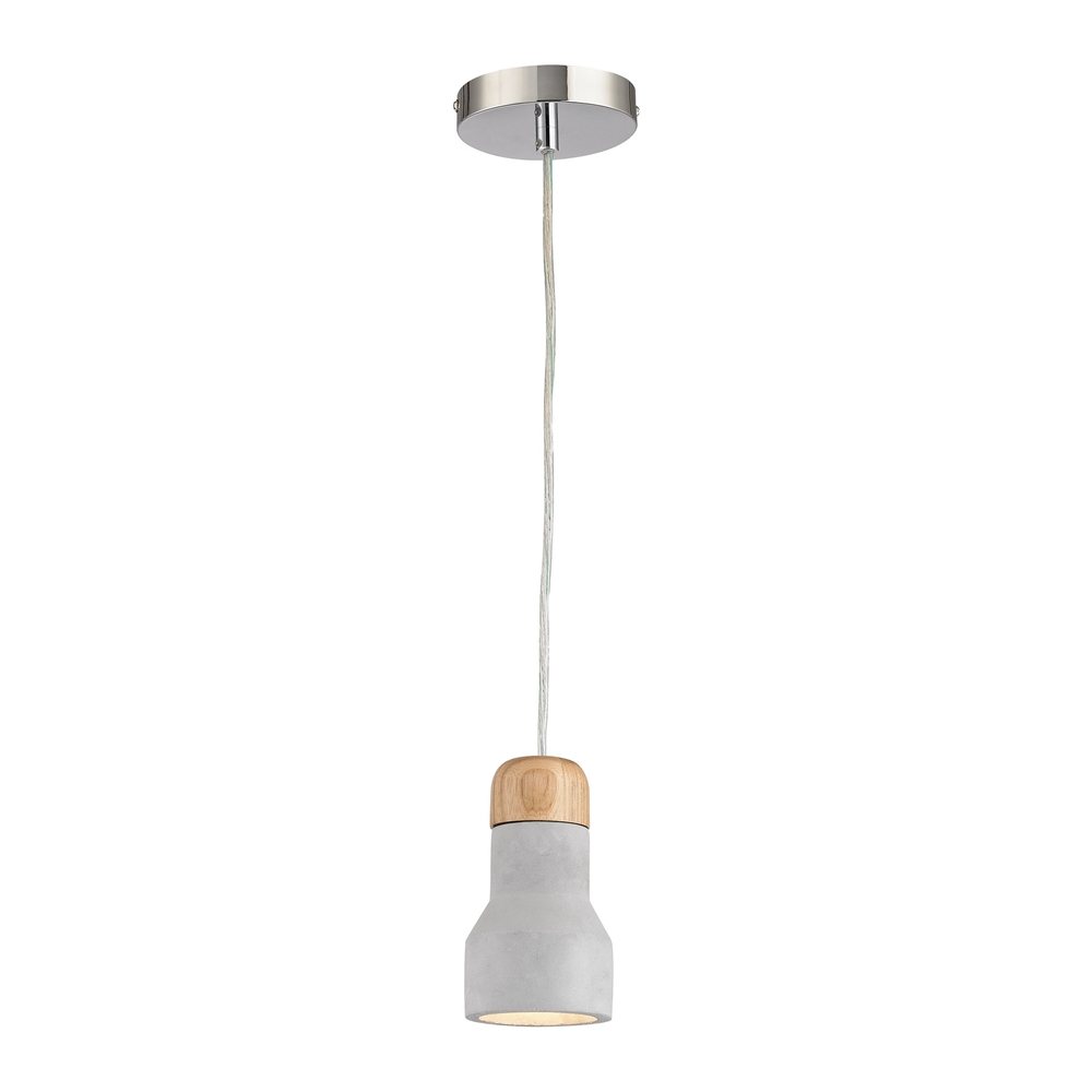 Brutewood 1 Light Pendant In Polished Concrete. Picture 1