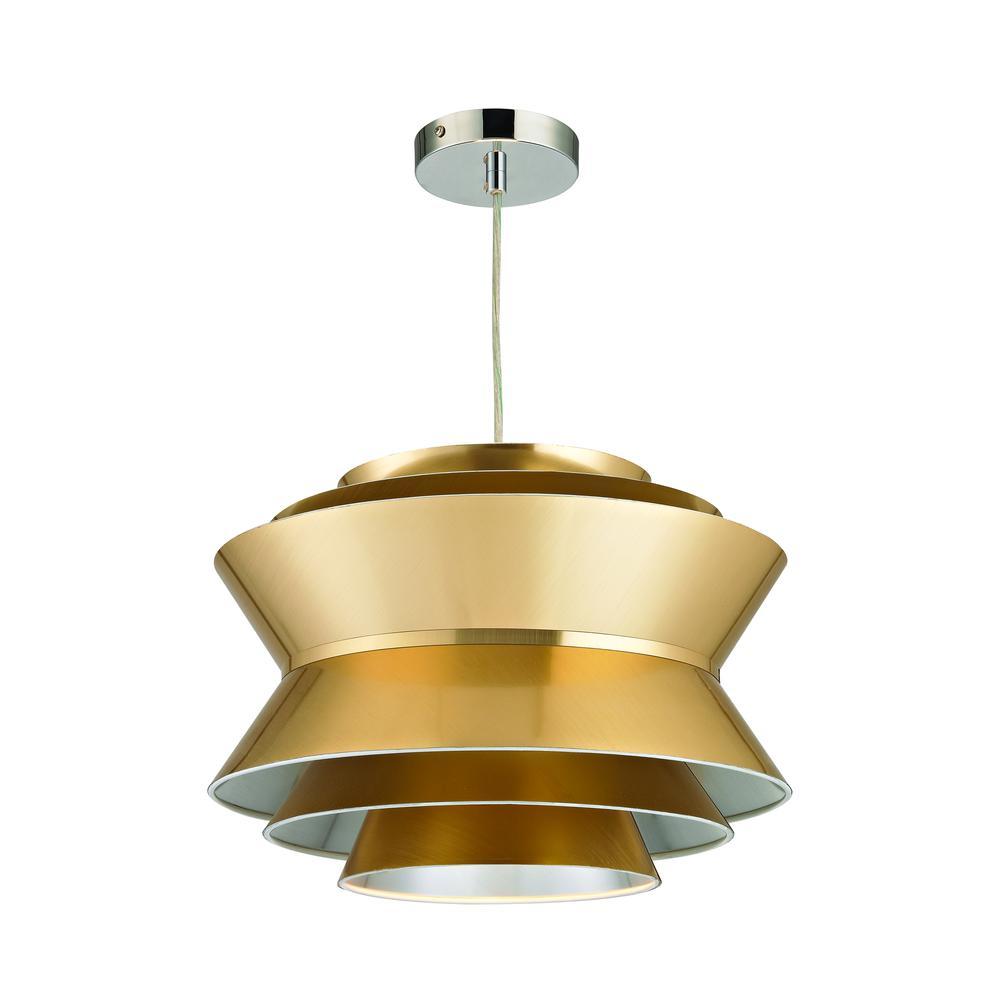 Godnik 1 Light Pendant In Gold. Picture 1