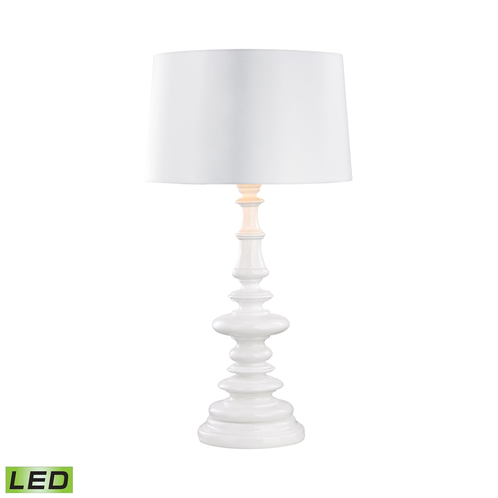 Outdoor Table Lamp Led: Corsage Outdoor LED Table Lamp With White Shade