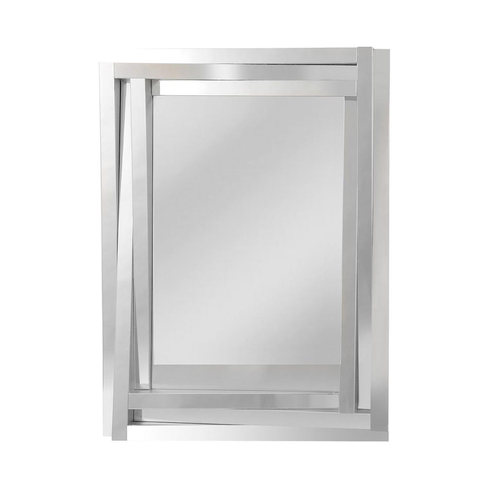 Geometric Three Wide Sloping Glass Frame. Picture 1