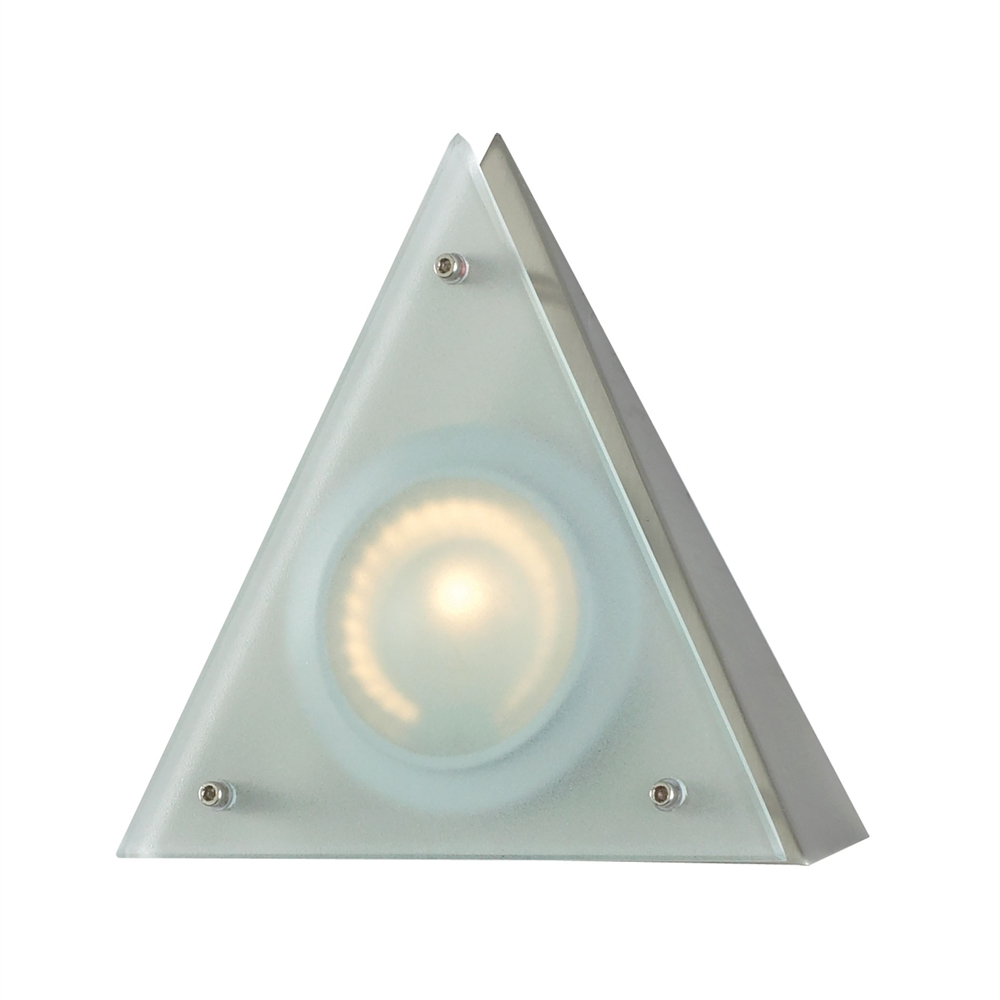 Zeepuk 1 Lamp Wedge Light In Stainless Steel And Frosted Glass