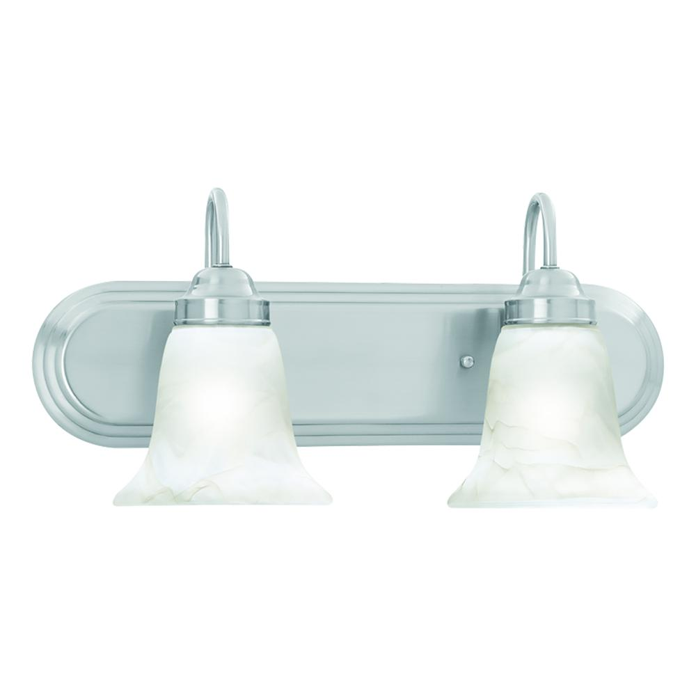 Homestead Wall Lamp Brushed Nickel 2X100. Picture 1