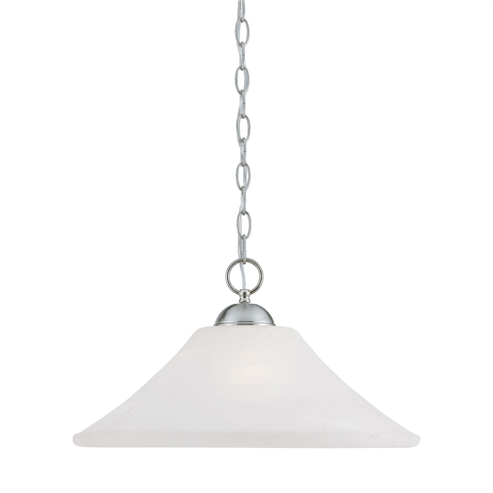 Elipse Pendant Brushed Nickel 1X150W 120. Picture 1