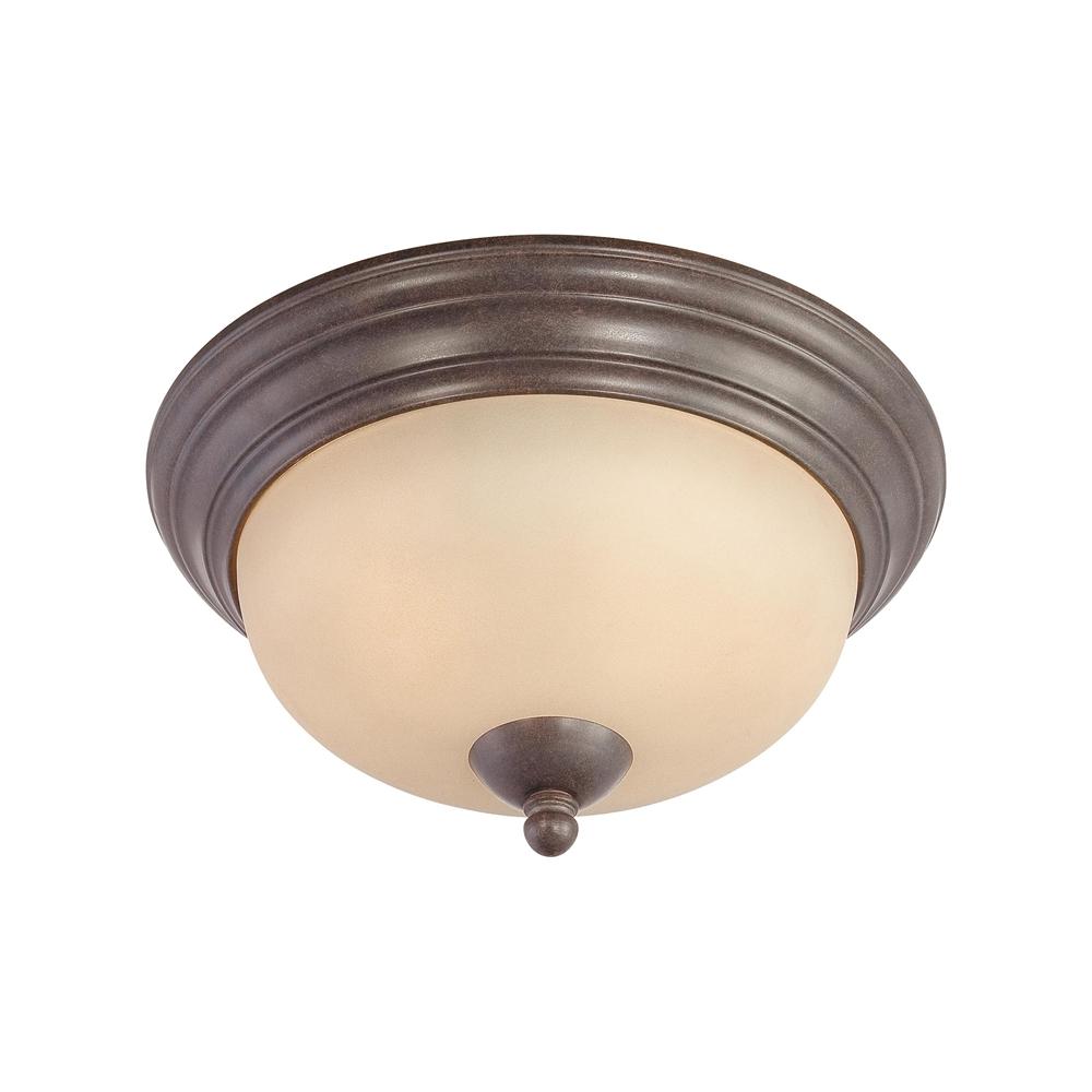 Triton Ceiling Lamp Sable Bronze 2X60W. Picture 1