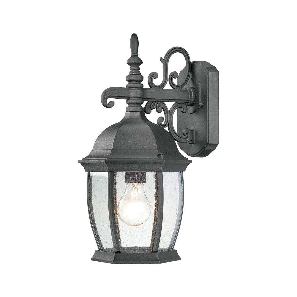 Covington Wall Lantern Black 1X100W 120. Picture 1