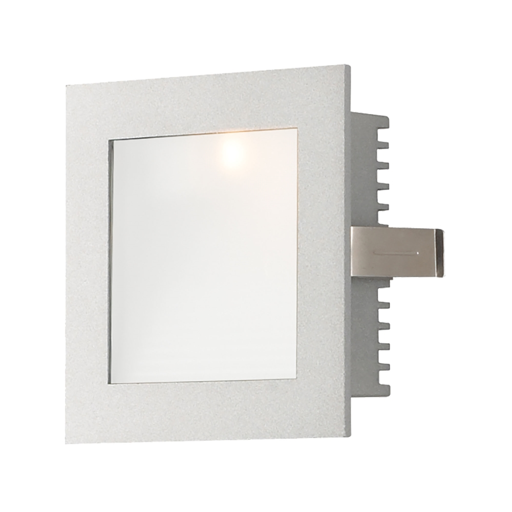 1 Light Xenon Steplight For New Construction With Grey