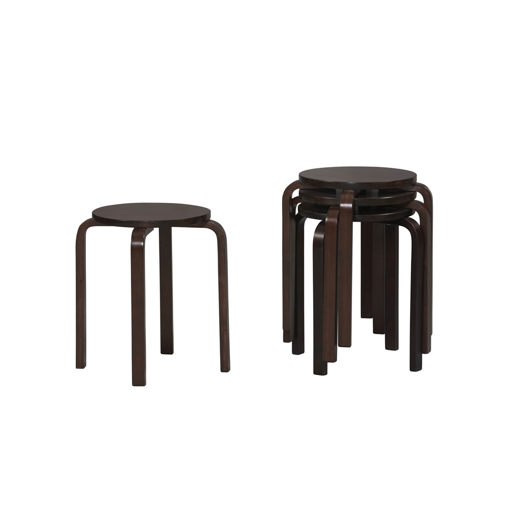 17 Inches BENTWOOD STOOL - WENGE. Picture 1
