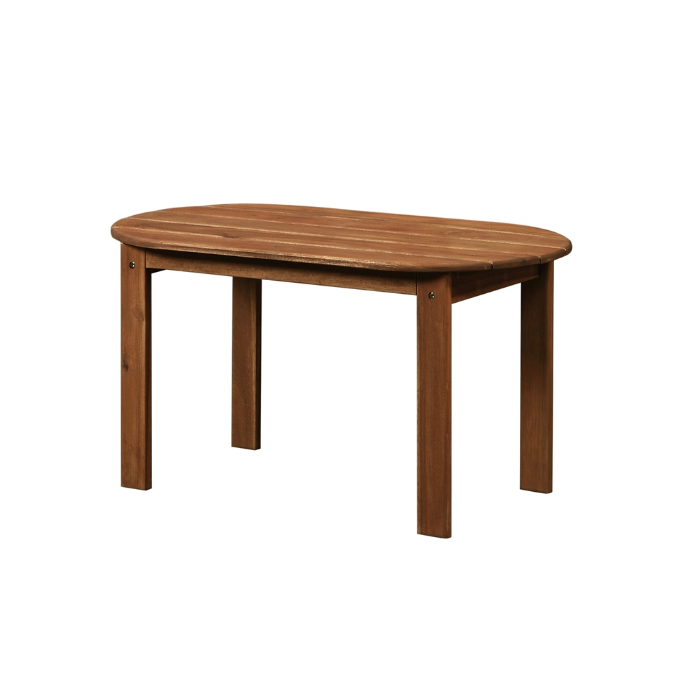 Teak Oil Coffee Table: Adirondack Teak Finish Coffee Table